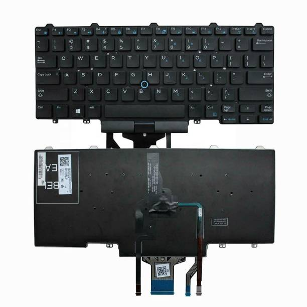 WISTAR Laptop Backlite Keyboard Compatible for Latitude E5450 E5470 E7450 E7470 0D19TR pk1313d4b00 Series WIith TrackPoint Laptop Keyboard Replacement Key