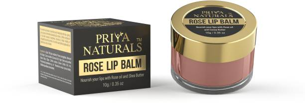 Priya Naturals Rose Lip Balm ,Enriched With The Aroma Of Pure Rose Oil For Lips (Paraben-free) Rose