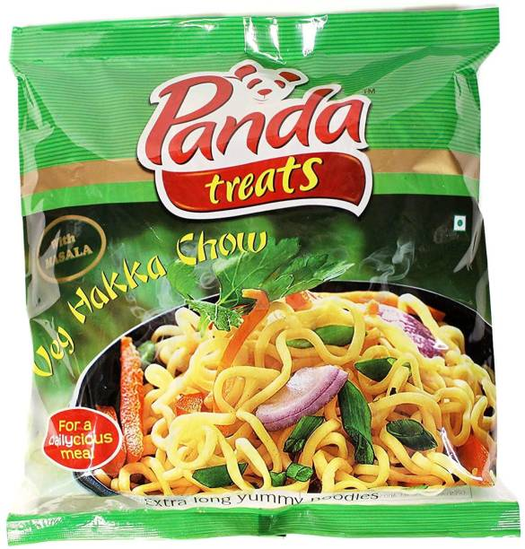 Panda Treats Veg Hakka Noodles with Masala 400g (Pack of 10) Hakka Noodles Vegetarian