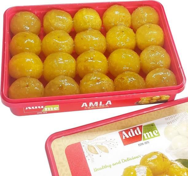 ADD ME Dry Amla murabba Super Premium 1kg Extra Large King Size (80-100gm a Piece) Selected awla muraba Fruit Sweets Celebration Gift Pack 1 kg Amla Murabba