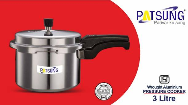 Patsung ISI CERTIFIED WITH 4MM THICKNESS ALUMINIUM 3 L Induction Bottom Pressure Cooker