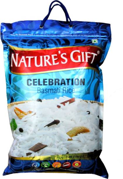 Natures's Gift CELEBRATION BASMATI RICE 5KG Basmati Rice (Full Grain, Steam)