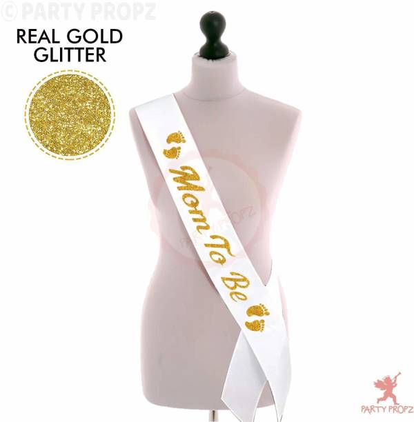 Party Propz Mom to Be Satin Sash for Baby Shower