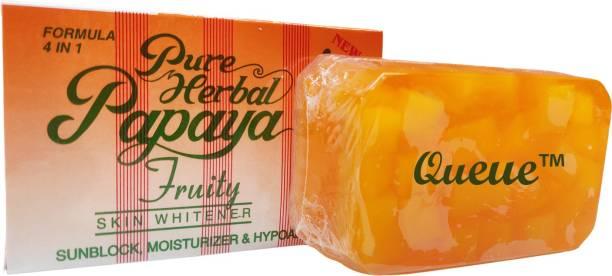 Queue Pure Herbal Papaya Soap Skin Whitening Soap