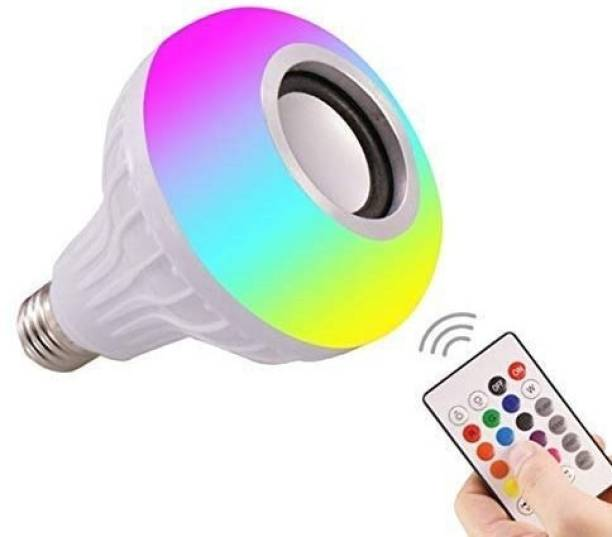 IMMUTABLE 72 _ RT- Bulb Multi Use Bluetooth Speaker,Led Bulb & Music Light|Multipl B22 LED White + RGB Light Ball Bulb Colorful Lamp with Remote Control for Home, Bedroom, Party Decoration and All. 20 W Bluetooth Speaker