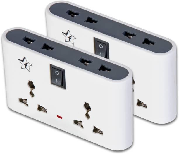 Flipkart SmartBuy Pack of 2 Three Pin 4  Socket Extension Boards