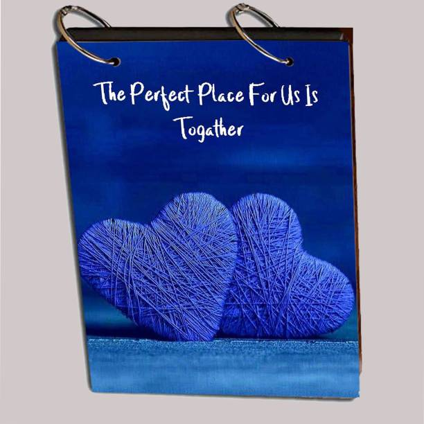 paper pebbles Together Heart Scrap Book For Your Memories And Photo Collection With Lasert Cut Wooden Cover Album