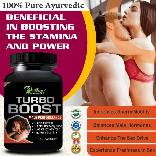 Riffway Turbo Boost Sexual Capsules Sex Time Badhane Ki Dawa/ Sexual Power Booster Tablets 100% Ayurvedic
