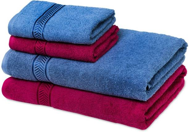 Modern Terry Cotton 450 GSM Bath, Hand Towel Set