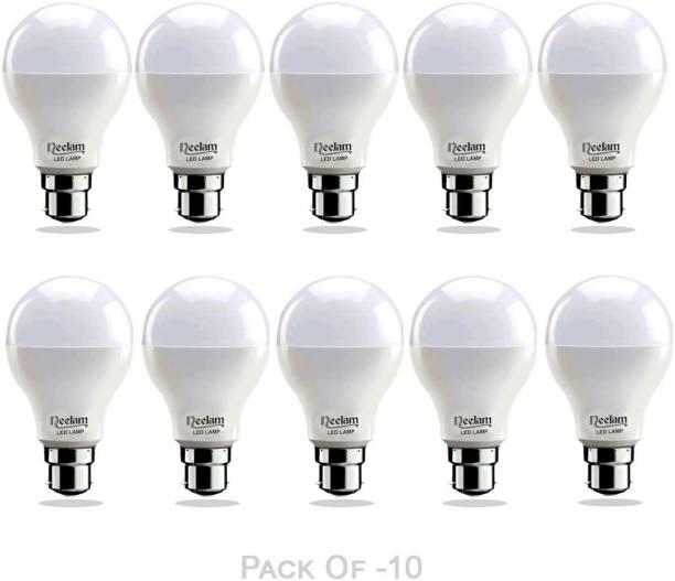 NEELAM 9 W Round B22 LED Bulb