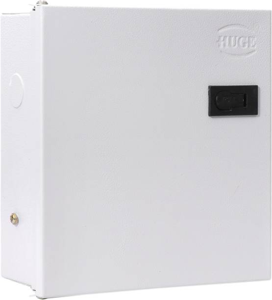 Huge 8 Way SPN MCB Box, Double Door MCB Distribution Board, Iron, Off White Distribution Board