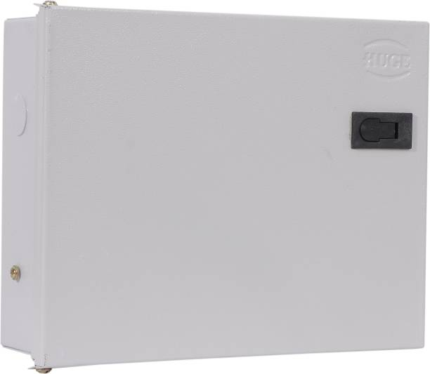 Huge 12 Way SPN MCB Box, Double Door MCB Distribution Board, Iron, Off White Distribution Board