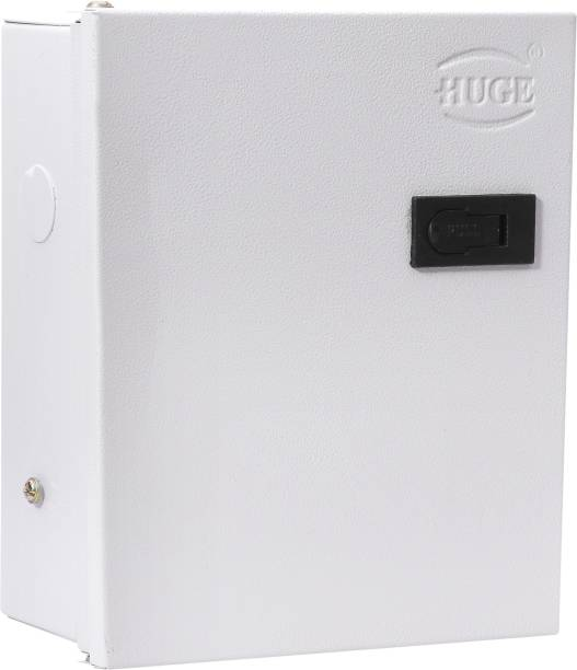 Huge 6 Way SPN MCB Box, Double Door MCB Distribution Board, Iron, Off White Distribution Board