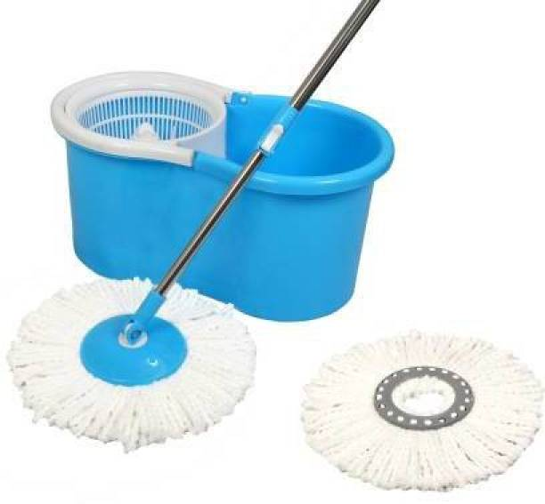 wistrunck Home Cleaning Value Pack- 360 Degree Spin Mop With 2 Refills, Extendable Handle, Along With Floor Cleaner, Toilet Cleaner & Spray Cleaner, For Spotless Cleaning Mop Set (Multicolor) Mop