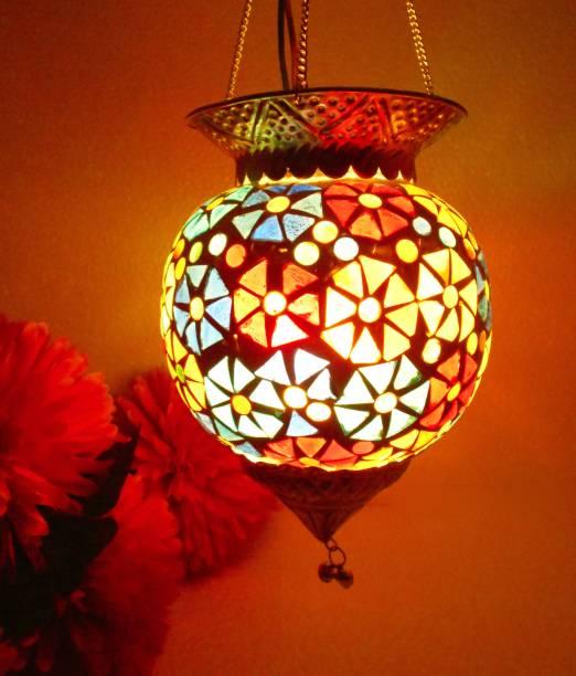 Susajjit Décor Hanging Lamp Multicolor Glass Table Lantern