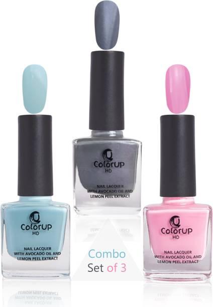 ColorUp HD Glossy Nourishing No Toxin Nail Polish Combo Set of 3 Hi-skool Affair, Jealous Jeans, Bubblegum