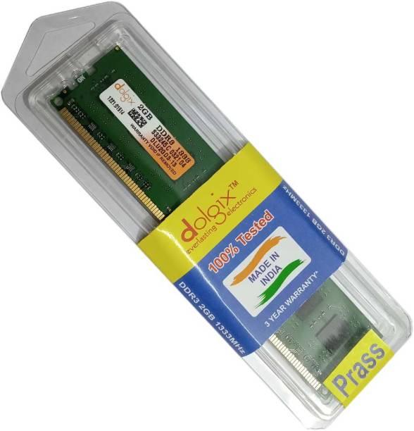 prass DLU2GD3 DDR3 2 GB (Single Channel) PC (Dolgix 2gb ddr3 1333)