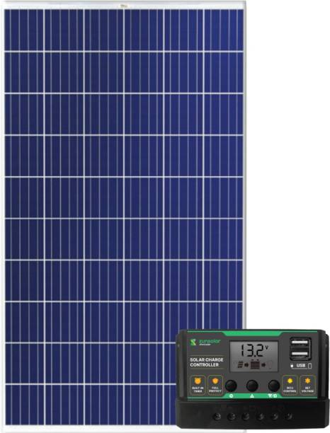 ZunSolar Combo of PWM 20A Solar Charge Controller (ZS20) and 165 Watt Polycrystalline Carat 24 ZR Series Solar Panel