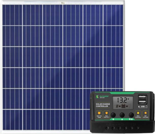 ZunSolar Combo of PWM 20A Solar Charge Controller (ZS20) and 50W Polycrystalline Solar Panel