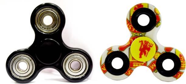 PREMSONS Fidget Spinner Black / Silver, with Free Gift Surprise Fidget Spinner