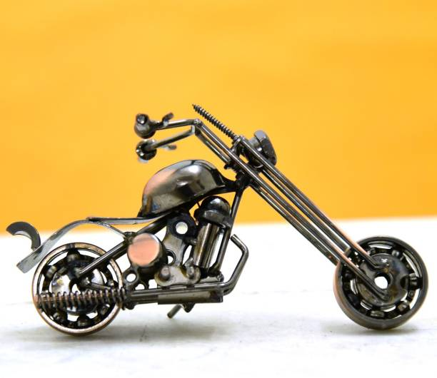 rajasthan creation Metal Art Vintage Motorbike Large Miniature Handmade Model (Brown) Sign