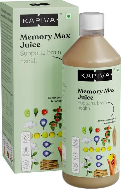 Kapiva Memory Max Juice | For Enhanced Memory & Focus | With 5 Potent Ayurvedic Herbs