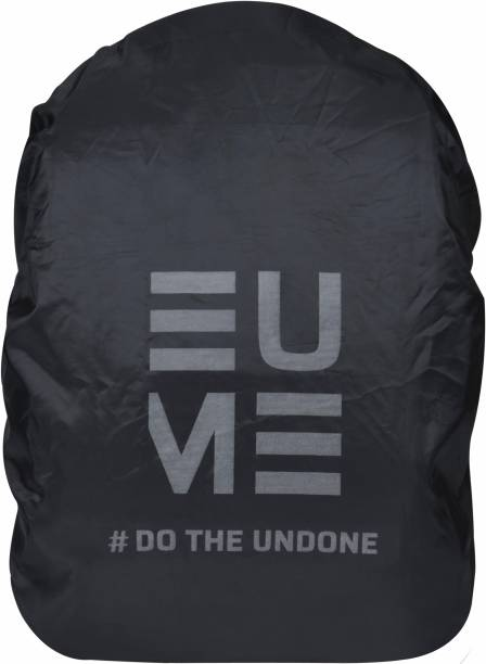 EUME Polyester 35 LTR Reflector Rain and Dust Cover with Pouch Laptop Bag Cover, School Bag Cover