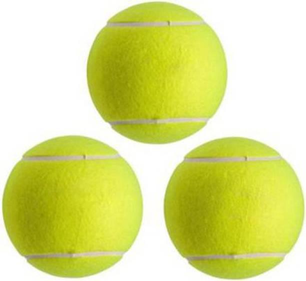Benstar Medium Weight Rubber Cricket Tennis Ball Cricket Tennis Ball (Pack of 3, Green) Cricket Tennis Ball