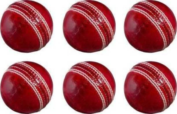 EXTREME FIT Red 4 piece genuine leather cricket ball for tournament Cricket Leather Ball