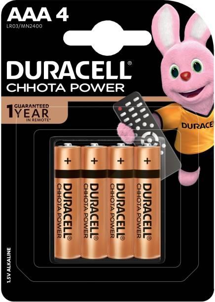 DURACELL CHHOTA POWER ALKALINE AAA BATTERIES- 4 Pcs  Battery
