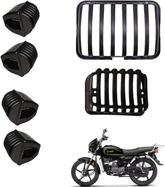 wahh Headlight Tail Light Indicator Grill Cover Guard Protection Hero Splendor Pro Plus (Pack of 6) Bike Headlight Grill