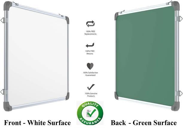 Techfab Regular Regular Whiteboard 2X2 ft. One Side White Marker and Back Side Chalk Board Surface Whiteboards