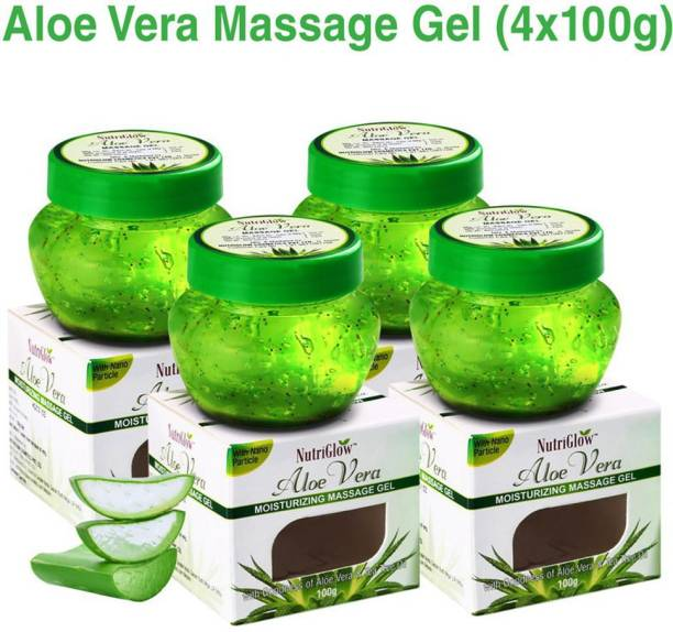 NutriGlow Aloe Vera Moisturizing Massage Gel 100gm Pack of 4