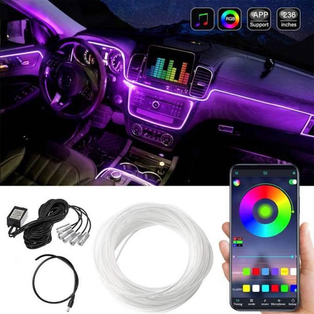 AutoPowerz Multicolor RGB Sound Active Car Dashboard Lighting Kit Ambient Lighting Kit – Wireless Bluetooth APP Control Car Fancy Lights
