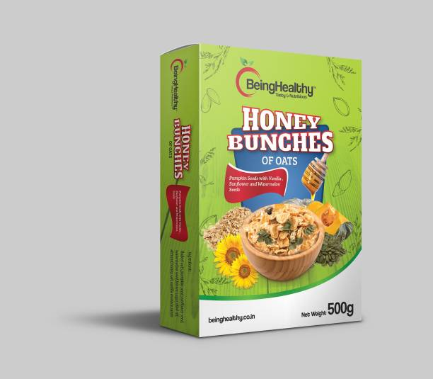 Dryfruit Mart Being Healthy Honey Bunches of Oats Pumpkin Seeds with Vanilla, Sunflower and Watermelon Seeds 500g