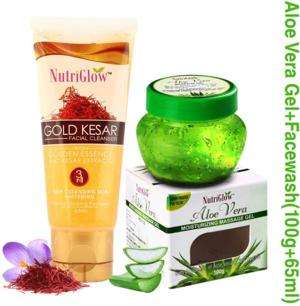 NutriGlow Gold kesar face wash with kesar extracts with aloe vera gel/moisturing/nourshing your skin