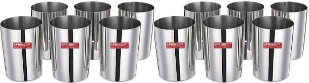 SPRINGWAY Pack of 12 Stainless Steel Glass set of 12 Dinner Set