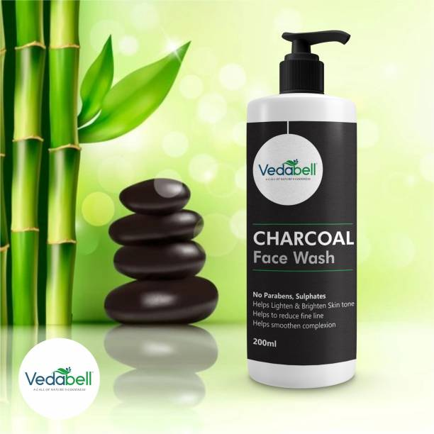 Vedabell Activated Charcoal facewash for dirt cleaning deep cleansing skin whitening blacksopt remover-200ml Face Wash