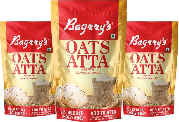 Bagrry's Oats Atta, Pack of 3 (300GM X 3)