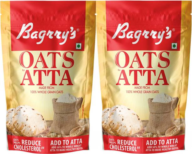 Bagrry's Oats Atta, Pack of 2 (300GM X 2)