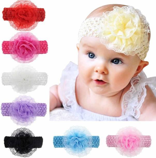 VRT Baby Girls Flower Headband (Multicolor, Pack of 6) Head Band