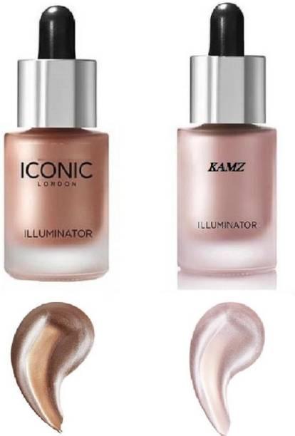 Kamz Beauty Professional Professional New Demanded Illuminator Skin blosam , original Iconic  Highlighter