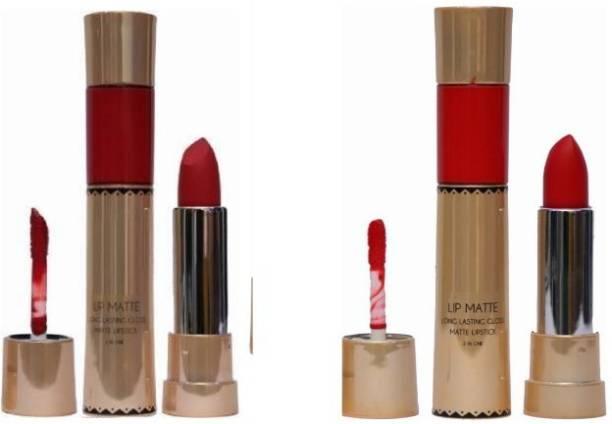 KASCN 2 In 1 Revolving Matte Lip Gloss Liquid Lipstick