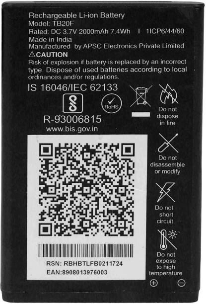 Wimax Mobile Battery For  RELIANCE JIO F101K/F61F/F81E/F30C/F90M/LF-2403N/F120B/F41T/F50Y/F220B/F210Q/LF2402/F221S/F211S