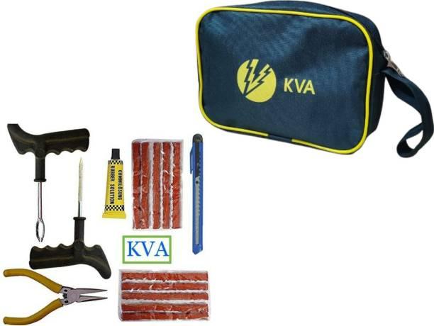KVA PLUS 007 Premium Tubeless Tyre Puncture Repair Kit