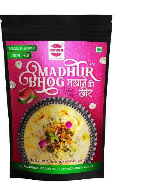 Mithila Naturals Madhur Bhog Instant roes flavor Ready Mix Makhana Kheer 400 g