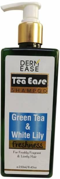 DERMEASE Tea Ease Green Tea & White Lily Shampoo 250ml Bottle