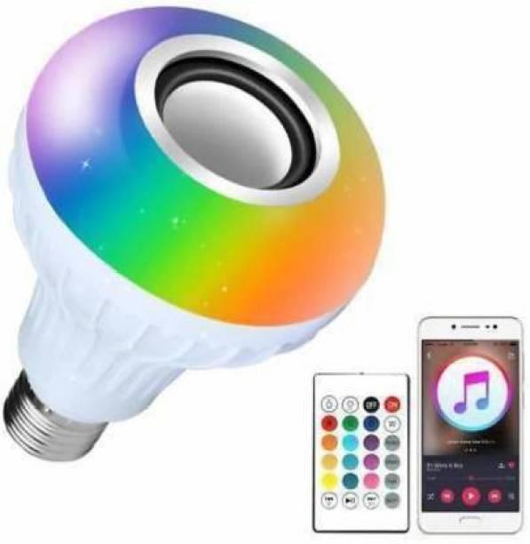 ADONYX Led Bulb with Bluetooth Speaker with Super bass Music Light Bulb Smart Bulb