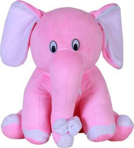 War1 Cute And Soft Plushy Sitting Elephant Soft Toy  - 10 cm