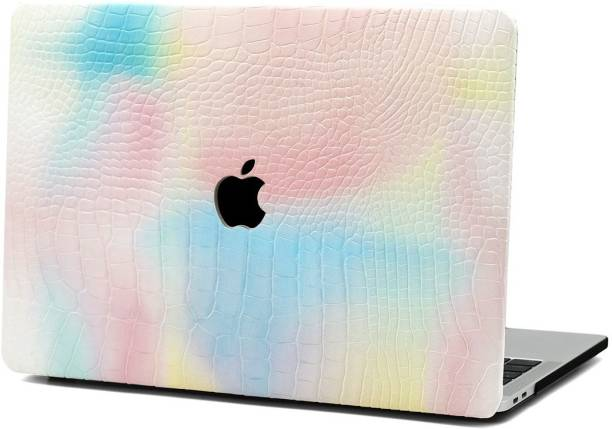 MOCA Front & Back Case for (PU Leather Surface) M1 MacBook Air 13 inch M1 A2337 A2179 A1932 MacBook Air Shell Case Cover